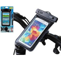Funda con Soporte Bici Impermeable Waterproof iPhone/Smartphone -Negro
