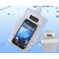 Funda Impermeable para iPhone Smartphone Blanco Transparente