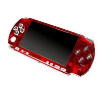 Frontal Bling PSP 3000 -Rojo Transparente