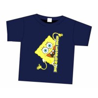 Bob Esponja: Camiseta Azul Marino Bob Esponja Asomado