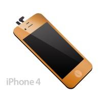 Pantalla Completa iPhone 4 -Oro Metalizado