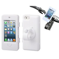 Funda con Soporte Bike5 para Bici iPhone 5/5S -Blanco